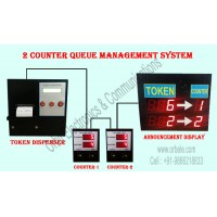 ELECTRONIC QUEUE MANAGEMENT SYSTEM FOR 2 COUNTER